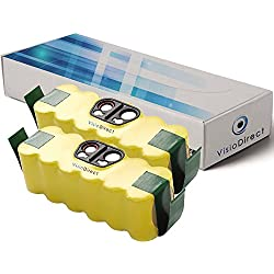 Visiodirect® Lot de 2 batteries pour Irobot iRobot Roomba 581 14.4V 4500mAh