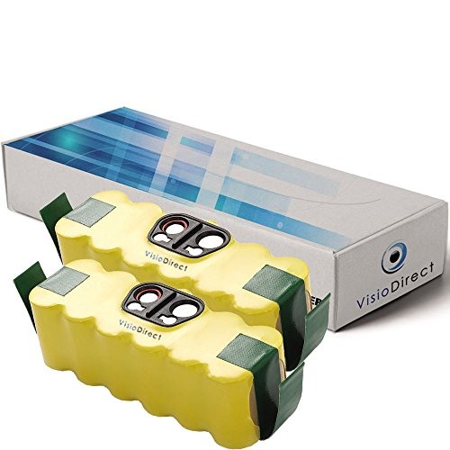 Visiodirect® Lot de 2 batteries pour Irobot Klarstein Cleanmate 14.4V 4500mAh