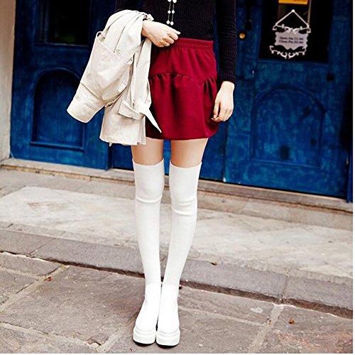 Confort Bottes Hiver Cheville Pu Femmes Haizhen Chaussures nB1HHq