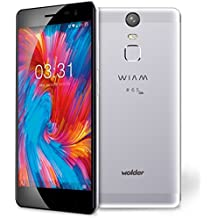 "Wolder WIAM #65 LITE - Smartphone Libre (5"" IPS HD, QUAD CORE, 16 GB Flash, 2 GB RAM, Sensor de Huellas, Android 6.0 Marshmallow, Aluminio, DUAL SIM, 4G) Color Gris"