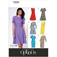 Vogue Patterns V8828 - Patrones de costura para vestidos de mujer (tallas 34 a 42)