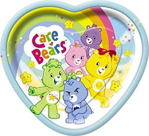 Care Bears Large Heart Shaped Paper Plates (8ct) by Care (Bears Supplies Care Party)
