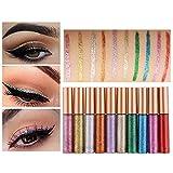 Glitzer Flüssiger Eyeliner Lidschatten, 10 Farben Wasserdicht Schimmer Pigment Metallic Sparkling Eyeliner Set von Pretty Comy