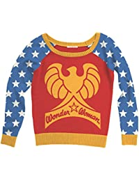 DC Comics Wonder Woman Big Eagle Logo Adult Multi-Color Ugly Christmas Sweater