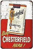 KellyPlaques années 50Acheter Chesterfield Cigarettes Look Vintage Reproduction Plaque en métal 8x 12