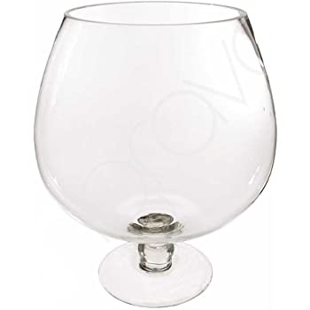 Giant Brandy Glass Vase Flower Bowl Candle Display Punch Bowl