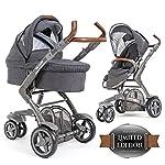 ABC Design 3-Tec - 2in1 Kombikinderwagen Set / Kinderwagen Komplettset inkl. Babywanne und Buggy - Sportwagen / Style Edition Street / mit innovativem Federungs-System