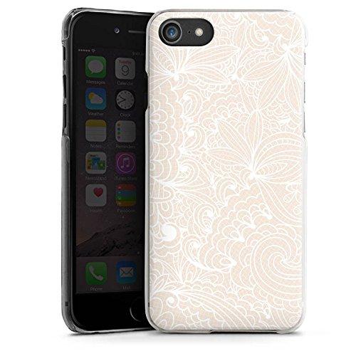 Apple iPhone 4 Silikon Hülle Case Schutzhülle Spitze Muster Blumen Hard Case transparent