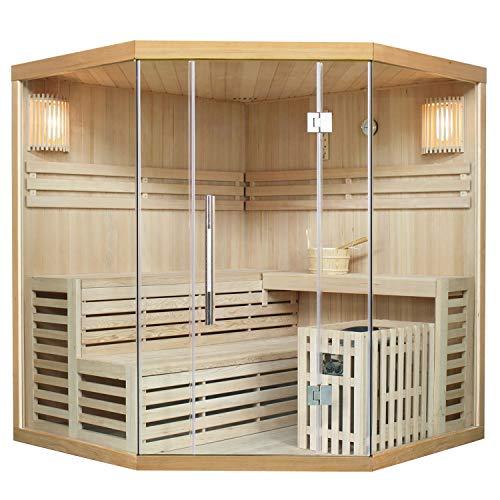 Traditionelle Saunakabine/Finnische Sauna Espoo 180 x 180 cm 8 kW   Artsauna