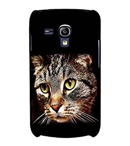 printtech Cat Eyes Back Case Cover for Samsung Galaxy S3 Mini::Samsung Galaxy S3 Mini i8190