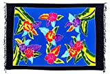 Sarong Pareo Blume Bunt Hibiskus Wickelrock Lunghi Tuch Wandbehang + Schnalle