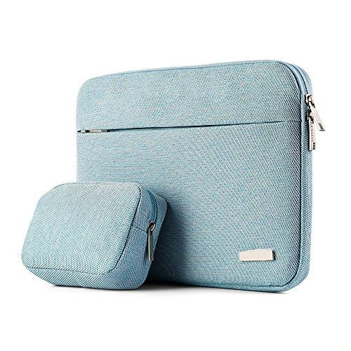 Y-Master 13,3 Zoll wasserdichte stoßfeste vintage dünne Laptophülle für Business und Alltag, Damen und Herren, Hellblau