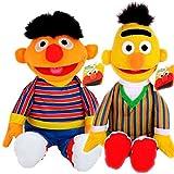 Original Lizenzartikel Sesamstrasse - Plüschfiguren in toller Qualität (2er Set Ernie & Bert)