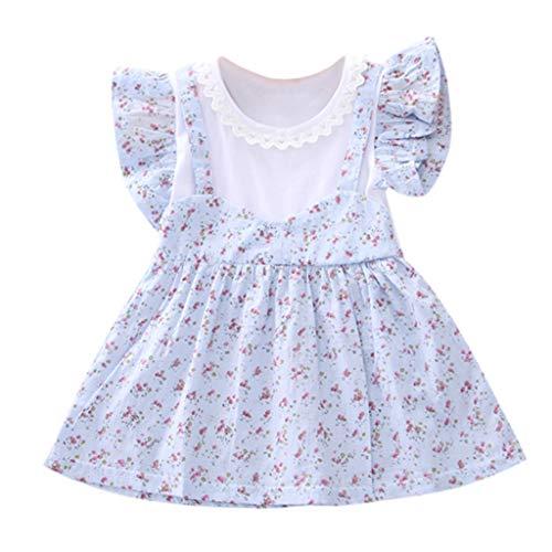 Yanhoo-Kinder Baby Kleinkind-Mädchen Langarm Herbst Karikatur Streifen Prinzessin Kleid 1-6T