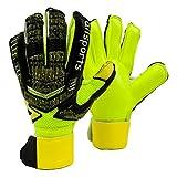 Jalunth Guantes de Portero - Guantes de Portero de fútbol para niños y Adultos con protección para los Dedos (Verde, 6)