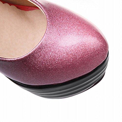 Mee Shoes Damen high heels Plateau runde Pumps Pink