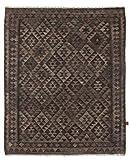 Nain Trading Kelim Afghan Heritage 199x164 Orientteppich Teppich Dunkelgrau/Dunkelbraun Handgewebt Afghanistan