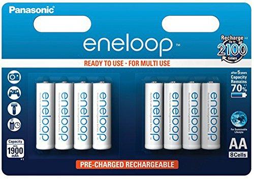 Panasonic eneloop Akku AA 8er-Blister mit Kapazität 2000mAh !!! (BK-3MCCE/8BE)