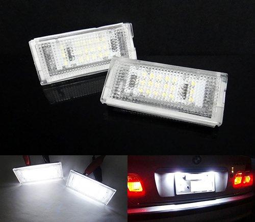 2x BMW Serie 3E46Berlina Station wagon 98+ licenza LED targa luce bianco no errore Luffy
