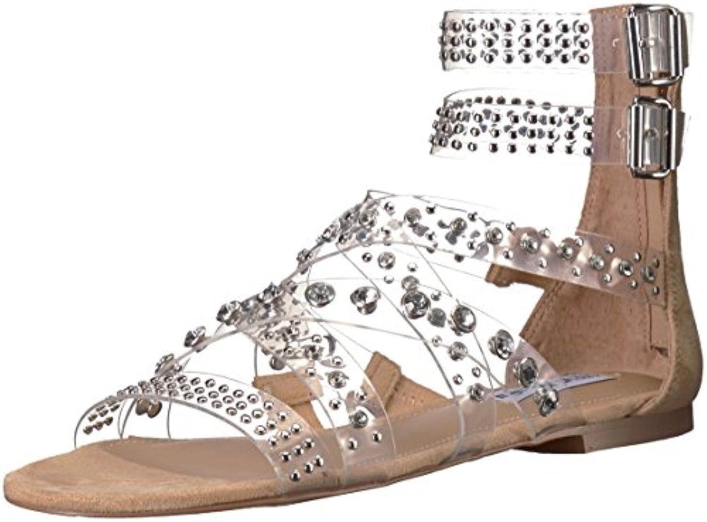 Steve Madden Wouomo Wouomo Wouomo Shift Sandal, Clear, 6.5 M US | Per Essere Altamente Lodato E Apprezzato Dal Pubblico Dei Consumatori  0804d5