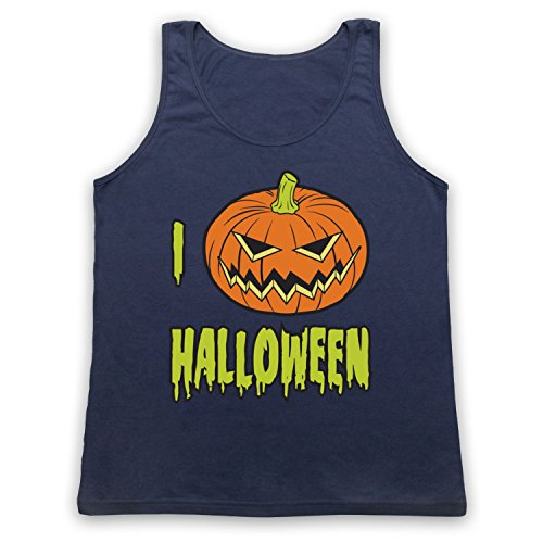 I Love Halloween Pumpkin Tank-Top Weste Ultramarinblau