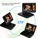 from CREATESTAR 10.5 Inch Portable DVD Player with 270 Swivel Screen, CREATESTAR 4 Hours Rechargeable Battery, USB/SD Card Reader and Car Charger /Mounting Kit - Black Model player02