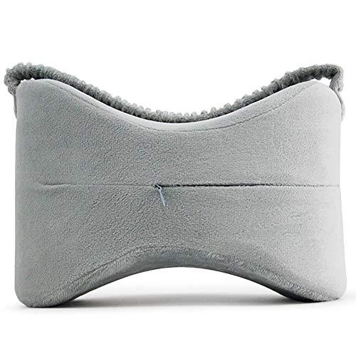 Kniekissen Pillow seitenschläfer für rückenschmerzen, ischiasnerven schmerzlinderung, beinschmerzen, Schwangerschaft, hüft- und gelenkschmerzen - Memory Foam Leg Pillow,Gray