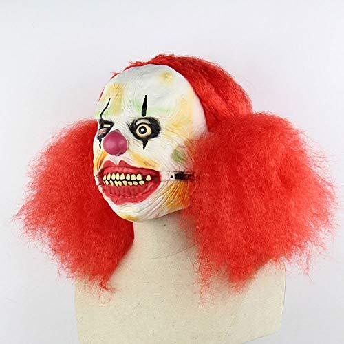 Big Mouth Clown Halloween Maske Beängstigend Gruselige Horror Cosplay Kostüm Bandana Latex Beängstigenden Kopf Zombie-Maske ()