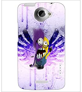 PrintDhaba Minion D-3526 Back Case Cover for HTC ONE X (Multi-Coloured)