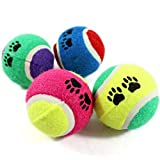 Apanphy Perro Juguete,Goma de pelota de tenis (pack de 2, color al azar)