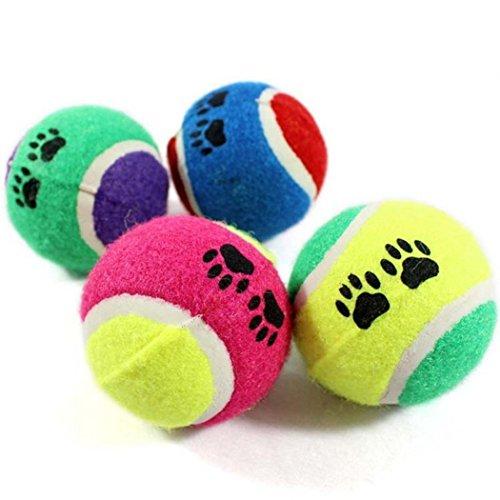 Apanphy Cane Giocattolo, gomma palla da tennis (Pack of 2, colore casuale)