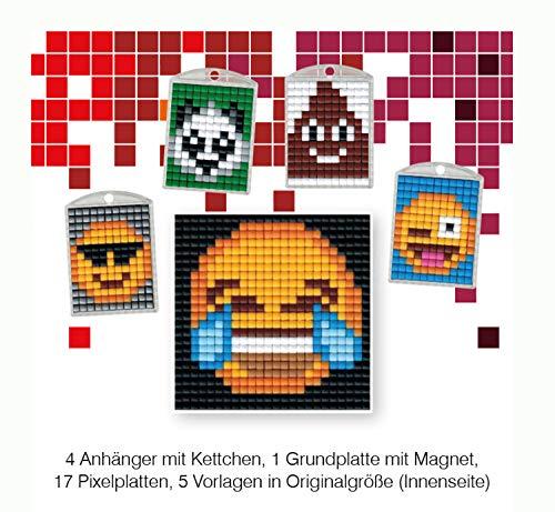Pracht Creatives Hobby P90040-63501 - Pixel Spaß Bastelset 19, für 4 Medaillons, Schlüsselanhänger, für Kinder, Jungen und Mädchen, ideal als kleines Geschenk, Mitgebsel, für den Kindergeburtstag