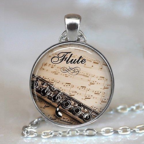 Flöte und Musik Schlüssel Anhänger Halskette Anhänger Schmuck, Flöte Schlüssel Schlüssel, Flöte, Musik Lehrer Geschenk Flötist Flöte, Halloween Schlüssel Halskette, Weihnachten Halskette