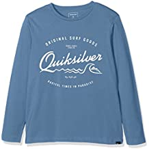 Quiksilver Ls ClassicYouth West Pier - Camiseta de manga larga para niño, color azul, talla S