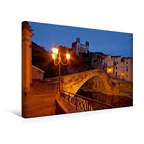 Calvendo Premium Textil-Leinwand 45 cm x 30 cm quer, Dolceacqua | Wandbild, Bild auf Keilrahmen, Fertigbild auf echter Leinwand, Leinwanddruck: Riviera di Ponente Orte Orte -