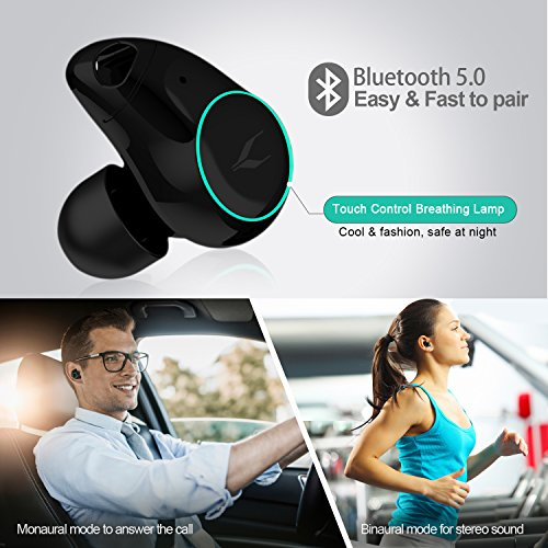 MYCARBON Auricolari Wireless Bluetooth senza Fili V5,0 Auricolari Bluetooth IPX5 Cuffie Wireless in Ear con Scatola Ricarica 1000mAh per Sport Palestra per Iphone Samsung Huawei Sony Blackberry HTC - 2