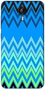 Snoogg Blue Shades Pattern 2574 Designer Protective Back Case Cover For Micromax Canvas Nitro 3 E455
