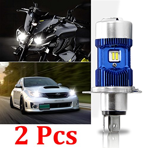 2X H4 / HB2 / 9003 Led Lampadina Kit Lampadina - Win Power- H4 LED Auto Faro Hi / Lo Beam Motorcycle, Xenon White 6000K 8000Lm Super Bright DC 12V / DC 24V