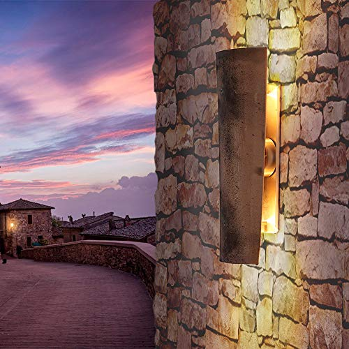 LED-Dachziegelleuchte Coppo di domenica Saint Tropez | Aussenwandleuchte Assisi | Wandlampe Up&Down | Außenleuchte Höhe 45 cm | Wandleuchte Dachziegel