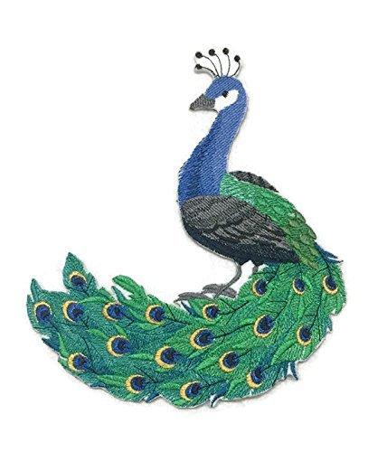 BeyondVision Erstaunlich Vögel Reich bestickte Eisen Nähen Patches 6,87 x 8 grau, schwarz, weiß, grün, rot (Patch Mockingbird)