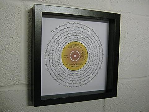 Frankie Valli - My Eyes Adored You - Wall Framed Spiraling Lyrics