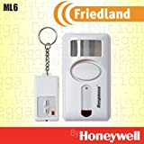 Friedland PIR Motion Sensor Erkennen Sicherheit 90dB Sirene Wireless Alarm mit Fernbedienung–mit Alarm/Chime/Panik Modus