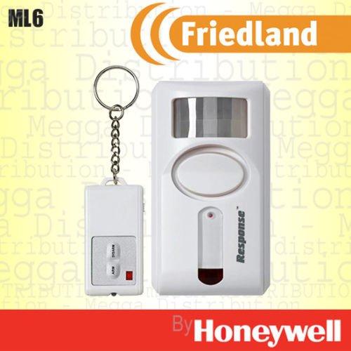 Friedland PIR Motion Sensor Erkennen Sicherheit 90dB Sirene Wireless Alarm mit Fernbedienung–mit Alarm/Chime/Panik Modus (Wireless-sensoren Honeywell)