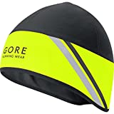 GORE RUNNING WEAR Herren Warme Lauf-Mütze, GORE WINDSTOPPER, MYTHOS 2.0 Hat, Größe ONE, Neon Gelb/Schwarz, HWMYTM