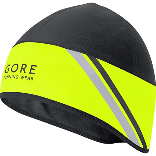 GORE WEAR Mütze Mythos 2.0 Windstopper Soft Shell Cappello, Uomo, Giallo neon / Nero, Taglia unica