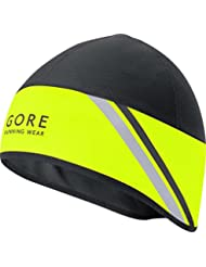 GORE RUNNING WEAR, Berretto Corsa Uomo, Antivento, GORE WINDSTOPPER, MYTHOS 2.0 WS, Taglia unica, Giallo/Nero, HWMYTM089902