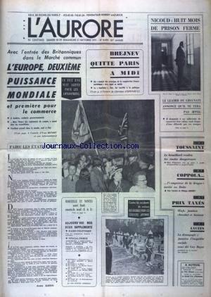 AURORE (L') [No 8449] du 30/10/1971