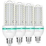 E27 LED Lampen 16Watt ersetzt 120W Halogenlampen, 6000K Kaltweiß LED Birnen, 360 ° Abstrahlwinkel LED Leuchtmittel, Energiesparlampe, Nicht Dimmbar LED Mais Glühlampen 4-Stück