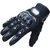 Atdoshop(TM) 1Pair Rock Black Short Sports Leather Motorcycle Motorbike Summer Gloves