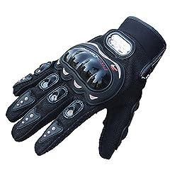Tonsee Rock schwarz kurze Sport Leder Motorrad Motorrad Sommer winter Handschuhe (M)